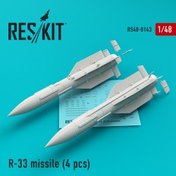 R-33 missile (4 штуки) (1/48) for MiG-31