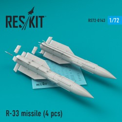 R-33 missile (4 штуки) (1/72) for MiG-31