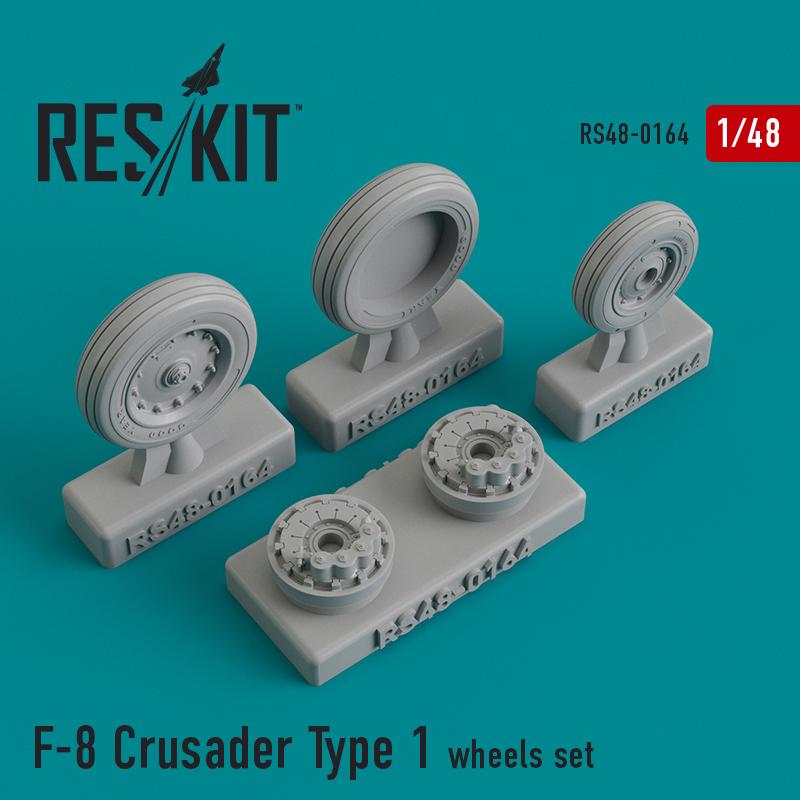 F-8 Crusader Type 1  смоляные колеса (1/48)