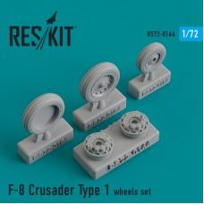 F-8 Crusader Type 1  смоляные колеса (1/72)