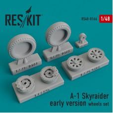 A-1 Skyraider early version смоляные колеса (1/48)