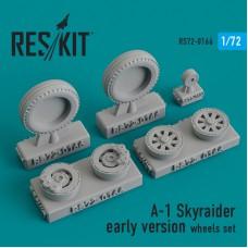A-1 Skyraider early version смоляные колеса (1/72)