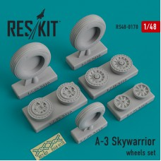 A-3 Skywarrior смоляные колеса (1/48)
