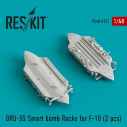 BRU-55 Smart bomb Racks for F-18 (2 штуки) (1/48)