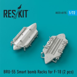 BRU-55 Smart bomb Racks for F-18 (2 штуки) (1/72)