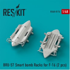 BRU-57 Smart bomb Racks for F-16 (2 штуки) (1/48)