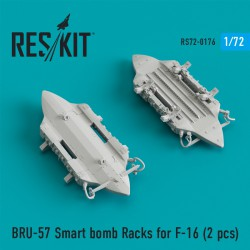BRU-57 Smart bomb Racks for F-16 (2 штуки) (1/72)