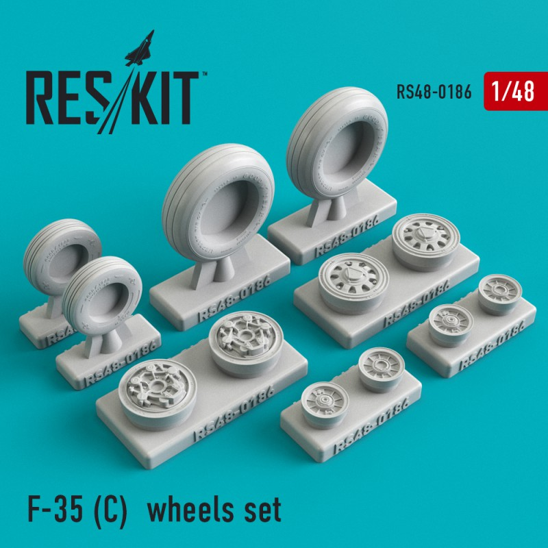 F-35 (C) смоляные колеса (1/48)