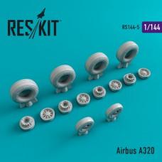 Airbus A320 смоляные колеса (1/144)