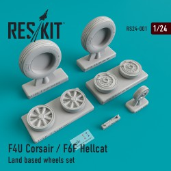 F4U Corsair / F6F Hellcat Land based смоляные колеса (1/24)