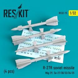 R-27R авиационная ракета (4 штуки) (1/32)