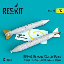BLG-66 Belouga Cluster Bomb (2 штуки) (1/32)