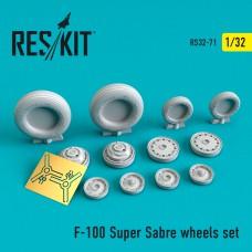 F-100 Super Sabre wheels set (1/32)