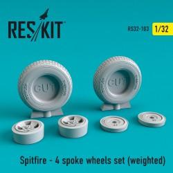 Spitfire - диск на 4 спицы, смоляные колеса (1/32)  (weighted)