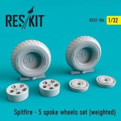 Spitfire - диск на 5 спиц, смоляные колеса (1/32)  (weighted)