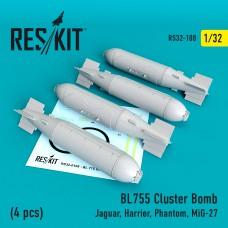 BL755 Cluster Bomb (4 штуки) (1/32)