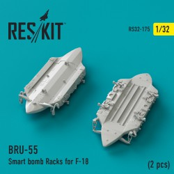 BRU-55 Smart bomb Racks for F-18 (2 штуки) (1/32)