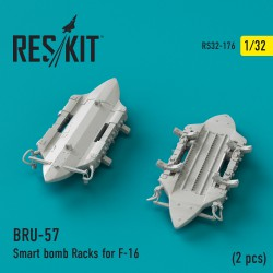 BRU-57 Smart bomb Racks for F-16 (2 штуки) (1/32)