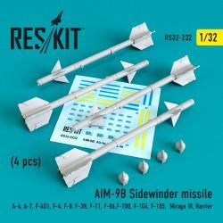 """AIM-9B """"Sidewinder"""" missile (4 штуки)   (1/32)"""