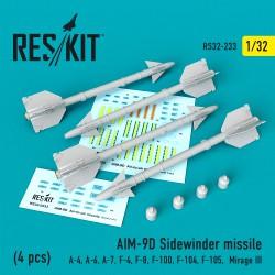 "AIM-9D ""Sidewinder"" missile   (4 штуки)   (1/32)"