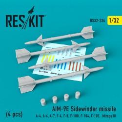 "AIM-9E ""Sidewinder"" missile   (4 штуки)   (1/32)"
