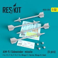 """AIM-9J """"Sidewinder""""  (4 штуки)   (1/32)"""