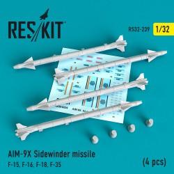"""AIM-9X """"Sidewinder""""  missile (4 штуки) (1/32)"""