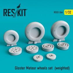Gloster Meteor смоляные колеса (1/32)  (weighted)