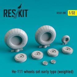 He-111 early type смоляные колеса  (1/32) (weighted)