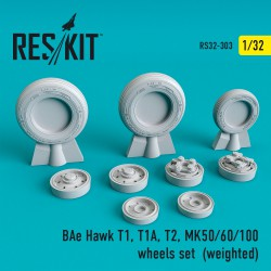 BAe Hawk T1, T1A, T2, MK50/60/100 смоляные колеса (1/32) (weighted)