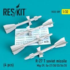 R-27T авиационная ракета (4 штуки) (1/32)