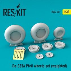 Do-335А Pfeil wheels set (weighted) (1/32)