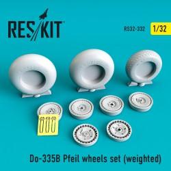 Do-335В Pfeil wheels set (weighted) (1/32)