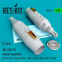 UB-32A-73 rocket launcher (2 pcs)  (1/35)