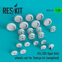 Kfz.305 Opel blitz wheels set for Tamiya Kit (weighted) (1/35)