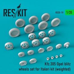 Kfz.305 Opel blitz wheels set for Italeri Kit (weighted) (1/35)