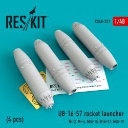 UB-16-57 rocket launcher (4 pcs) (1/48)