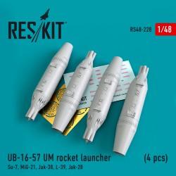 UB-16-57 UM rocket launcher (4 pcs)  (1/48)