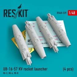 UB-16-57 KV rocket launcher (4 pcs) (1/48)