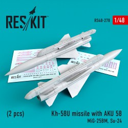 Kh-58U missile with AKU 58 (2 pcs) (1/48)