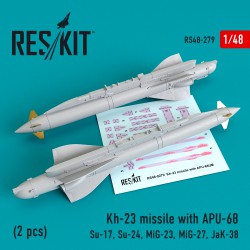 Kh-23 missile with APU-68 (2 pcs) (1/48)