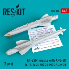 Kh-23M missile with APU-68 (2 pcs) (1/48)