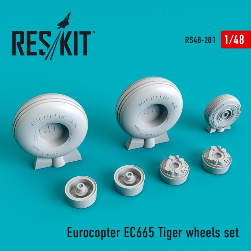 EC665 Tiger смоляные колеса  (1/48)