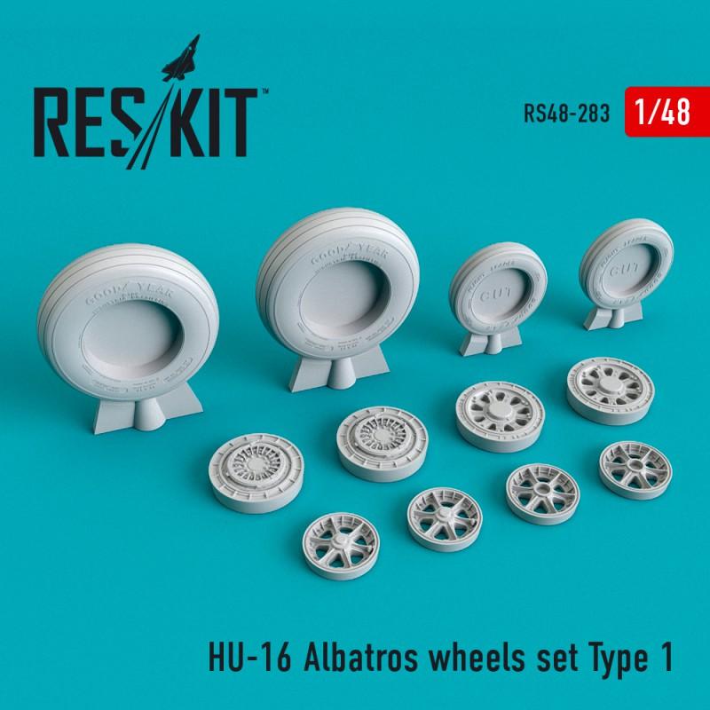 HU-16 Albatros Type 1 смоляные колеса  (1/48)