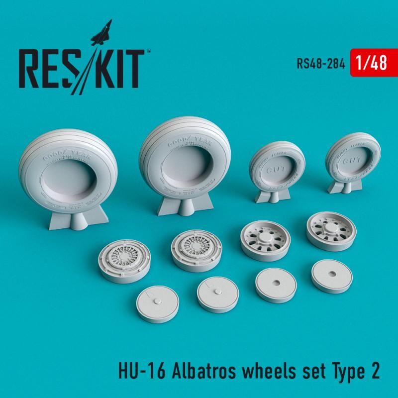 HU-16 Albatros Type 2 смоляные колеса  (1/48)