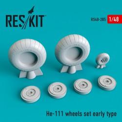He-111 early type смоляные колеса  (1/48)