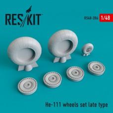 He-111 late type смоляные колеса  (1/48)