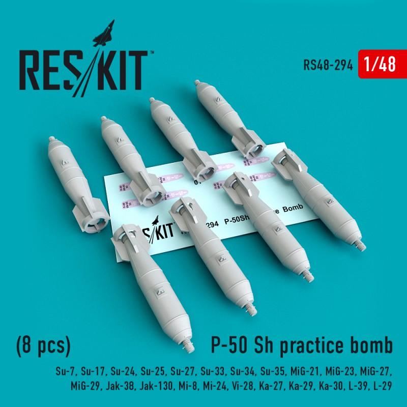 P-50 Sh practice bomb (8 штуки)  (1/48)