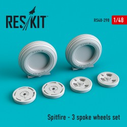 Spitfire - 3 spoke смоляные колеса (1/48)