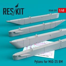 Pylons for MiG-25 BM (4 штуки)  (1/48)
